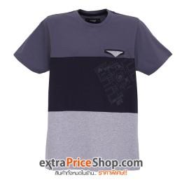 เสื้อยืด T-shirt สีเทามีลาย