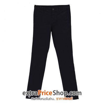 กางเกงขายาว ทรง Slim Fit สีดำ