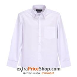 เสื้อเชิ้ต Slim Fit แขนยาวสีขาว
