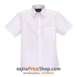 เสื้อเชิ้ตแขนสั้นสีขาว