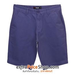 กางเกงขาสั้นสีม่วงอมน้ำเงิน