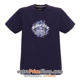 เสื้อยืด T-shirt สีน้ำเงิน สกรีนลาย