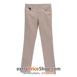 กางเกงขายาว ทรง Slim Fit สีเบจ
