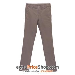 กางเกงขายาว ทรง Slim Fit สีกากี