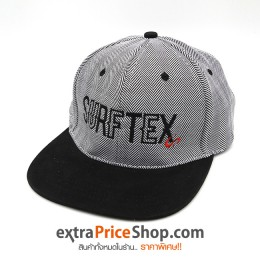 หมวกแก๊ป Surftex Australia มีลายสีขาว-ดำ