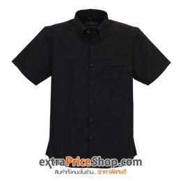 เสื้อเชิ้ตแขนสั้นสีดำ