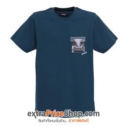 เสื้อยืด T-shirt สีเขียวฟ้าน้ำทะเลเข้ม