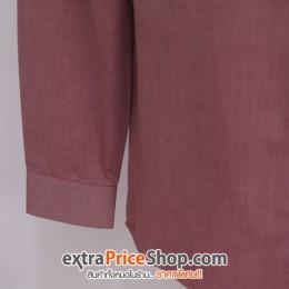 เสื้อเชิ้ต Slim Fit แขนยาวสีแดง