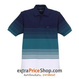 เสื้อโปโลลายสีน้ำเงิน-เขียว-ขาว