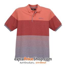 เสื้อโปโลลายสีส้ม-แดง