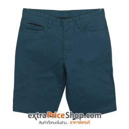กางเกงขาสั้นทรง Slim Fit สีเขียว
