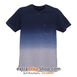 เสื้อยืด T-shirt สีน้ำเงิน-เทา