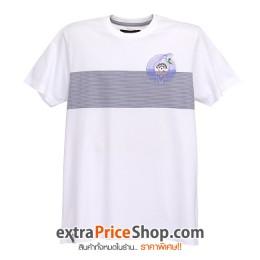 เสื้อยืด T-shirt สีขาวมีลาย