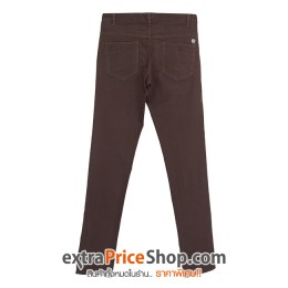 กางเกงขายาว ทรง Slim Fit สีน้ำตาล