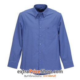 เสื้อเชิ้ต Slim Fit แขนยาวสีน้ำเงิน