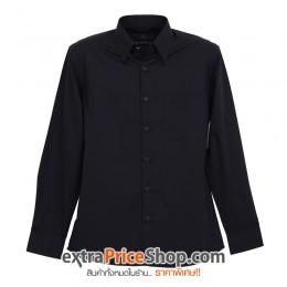 เสื้อเชิ้ตแขนยาวสีดำ